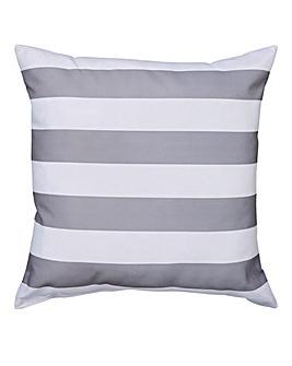 Grey Bold Stripe Outdoor Cushion