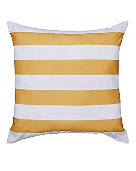 Ochre Bold Stripe Outdoor Cushion