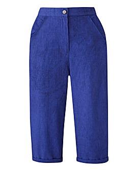 Basic Crop Cotton Trousers