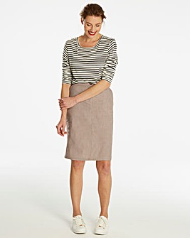 Basic Cotton Pencil Skirt