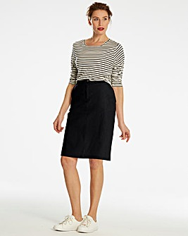 Basic Cotton Pencil Skirt