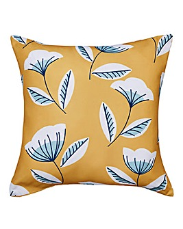 Ochre Scandi Floral Outdoor Cushion
