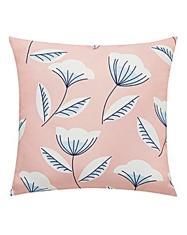 Blush Scandi Floral Outdoor Cushion