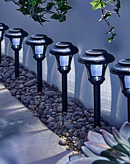 Pack of 6 LED Solar Stake Lights