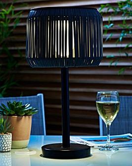 Rattan Solar Table Lamp