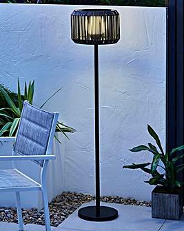 Rattan Solar Floor Lamp