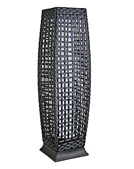 Rattan Solar Pillar Light