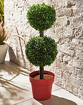 Artifical Topiary Lit Double Ball Tree
