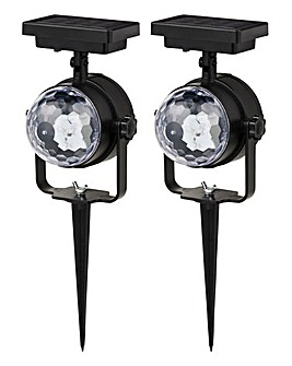 2 Solar Rotating Projection Lights
