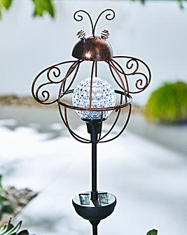 Rotating Solar Bee Stake Light