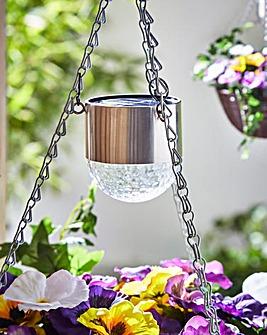 Set of 2 Solar Hanging Basket Lights