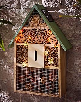 Insect House with Solar Lights