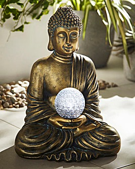 Buddha with Rotating Solar Light