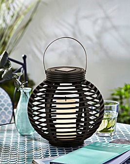 Rattan Solar Candle Lantern