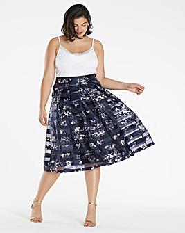 Stripe Printed Prom Skirt