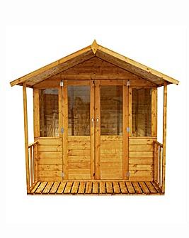 Mercia 8x7 Shiplap Summerhouse -Veranda