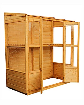 Mercia 6x3 Traditional Tall Wall Greenhouse
