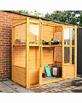 Mercia 6x3 Traditional Wall Greenhouse