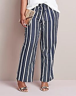 Pet Essential Stripe Linen Mix Trousers