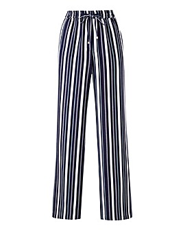 Petite Stripe Linen Mix Trousers