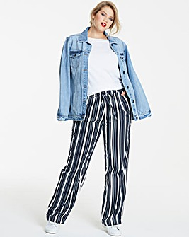 Stripe Linen Mix Trouser Regular