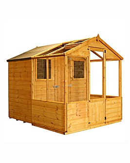 Mercia 8x6 Traditional Greenhouse Combi