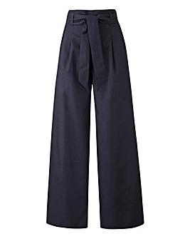 Tie Wide Leg Trousers Regular