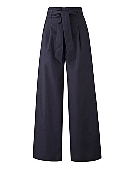 Tie Waist Wide Trouser