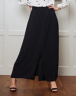 Pleat Wrap Overlay Trouser Regular