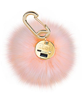 POWER POOF USB Power Bank Pink