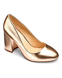 Sole Diva Slanted Heel Court Shoes Wide E Fit
