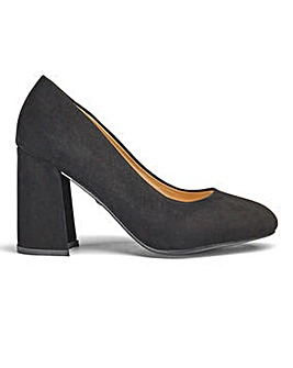 Sole Diva Slanted Heel Court Shoes E Fit