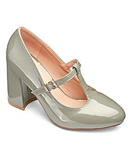 Sole Diva Slanted Heel Court Shoes Extra Wide EEE Fit