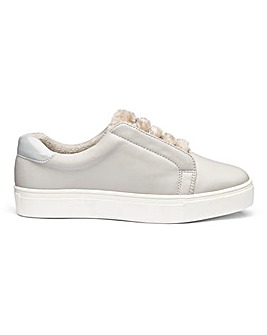 Marlow Faux Fur Trainers EEE Fit