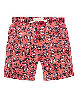 Boys Fish Print Swim Shorts