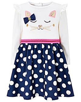 Monsoon Baby Maggie Spot 2 In 1 Dress