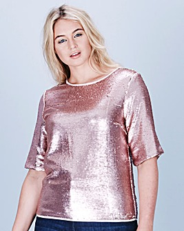 Two-Way Sequinned Shell Top