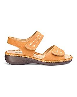 Cushion Walk Tan Sandals EEEEE Fit