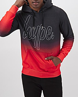 Hype Red Fade Pullover Hoody Long