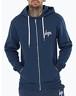 Hype Script Zip Through Hoody
