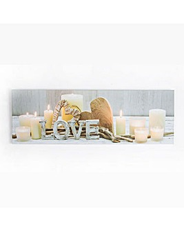Art for the Home Love Led Printed Canvas