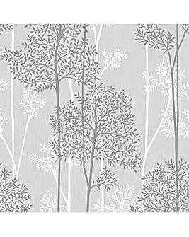 Eternal Grey / White Tree Print W/Paper