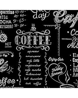 Superfresco Easy Black / White Typography Coffee Shop Wallpaper