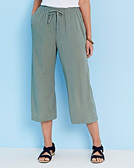Julipa Cropped Crinkle Trousers