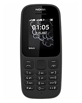 Nokia 105 Mobile Phone Black