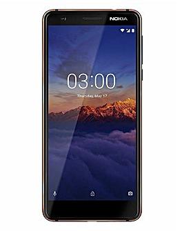 Nokia 3.1 Mobile Phone Blue Copper