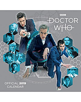 Doctor Who Classic 2019 Square Calendar