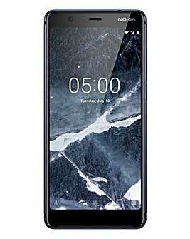 Nokia 5.1 Mobile Phone Blue