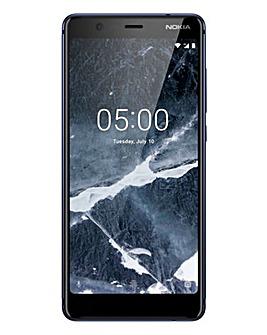 Nokia 5.1 Mobile Phone Blue