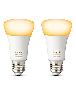 Hue White Ambiance E27 Twin Pack